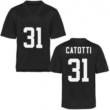 Men's Anthony Catotti UCF Knights Replica Black Football College Jersey