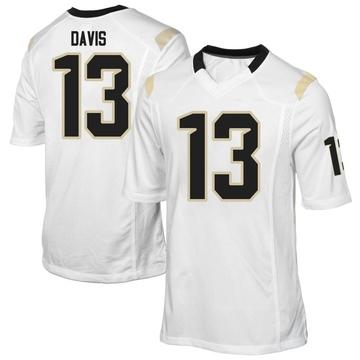 Men's Gabriel Davis UCF Knights Replica White Football College Jersey
