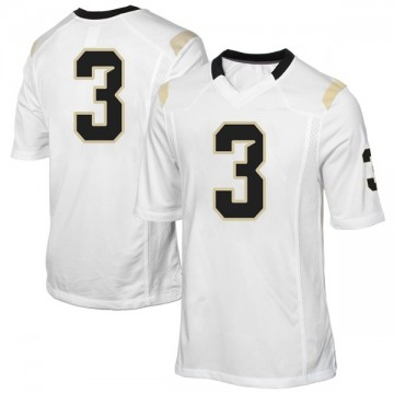 Men's Jaquarius Bargnare UCF Knights Replica White Football College Jersey