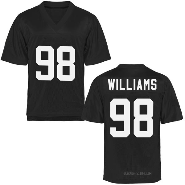 Men's Malcolm Williams UCF Knights Game Black Football College Jersey