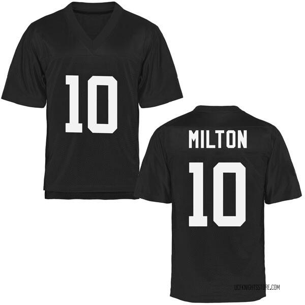 Men's McKenzie Milton UCF Knights Game Black Football College Jersey