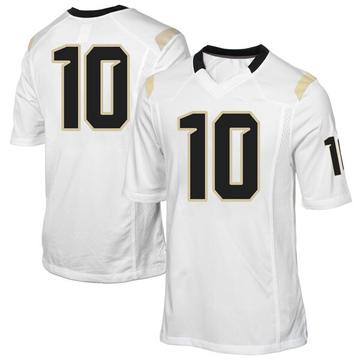 Men's McKenzie Milton UCF Knights Replica White Football College Jersey