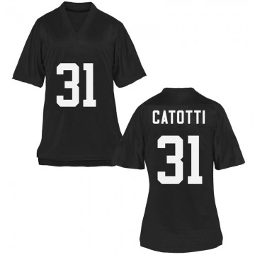 Women's Anthony Catotti UCF Knights Game Black Football College Jersey
