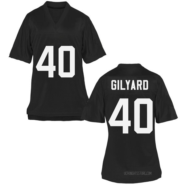 Women's Eriq Gilyard UCF Knights Game Black Football College Jersey