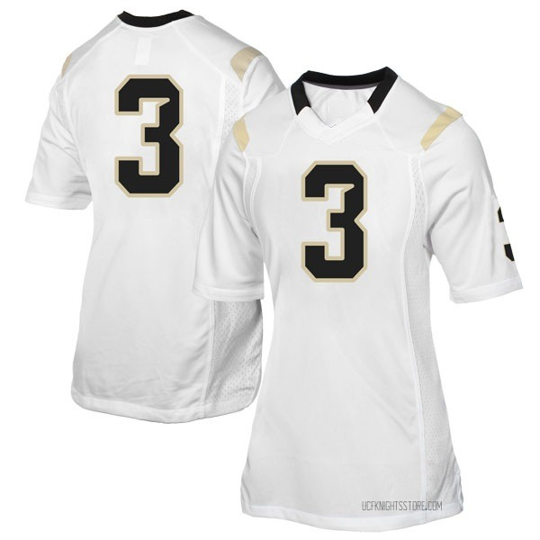 Women's Jaquarius Bargnare UCF Knights Replica White Football College Jersey