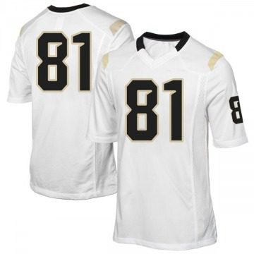 Youth Alex Harris UCF Knights Game White Football College Jersey
