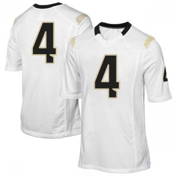 Youth Ceasar DeJesus UCF Knights Game White Football College Jersey