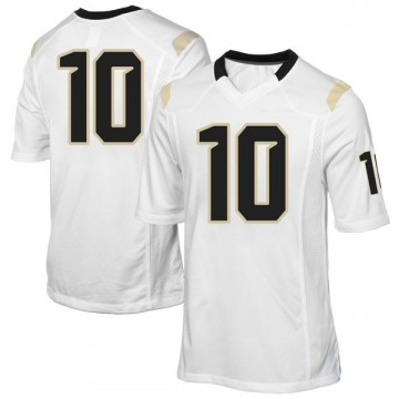 Youth McKenzie Milton UCF Knights Game White Football College Jersey